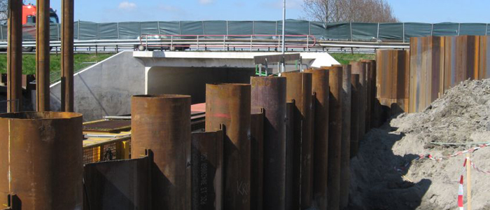 Stabau Founded On Steel Combined Tubular Sheet Pile Walls